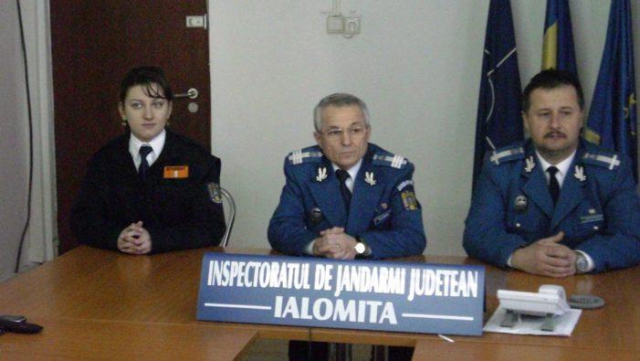 Jandarmii ialomiţeni şi-au prezentat bilanţul pe 2011