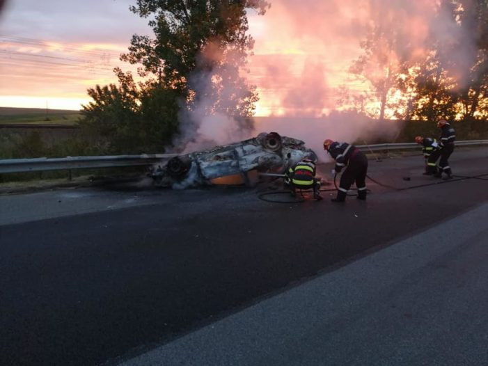 Accident rutier pe A2