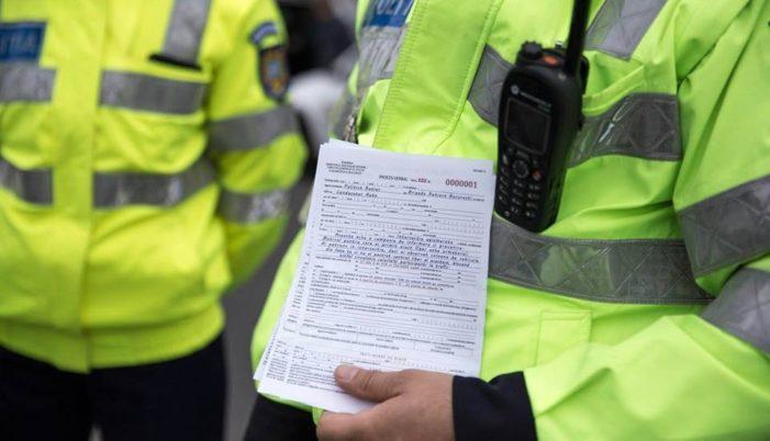 Peste 300 de sancțiuni contravenționale, a căror valoare depășește 100.000 de lei aplicare de polițiști în ultimele 48 de ore