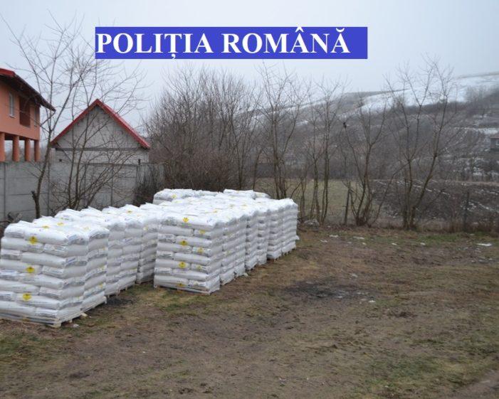 Zeci de tone de îngrăşăminte, depozitate necorespunzător în comuna Frăsinet