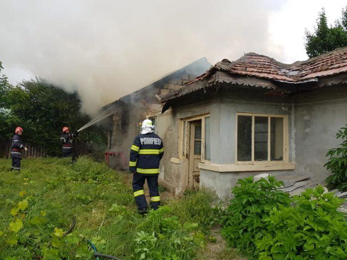 Incendiu în localitatea Modelu