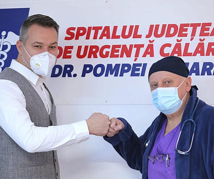 """Dr. Petru Strutinschi, medic primar în specialitatea Anestezie şi Terapie Intensivă (ATI), s-a alăturat echipei Spitalului Judeţean de Urgenţă""""Dr. Pompei Samarian"""" Călăraşi"""