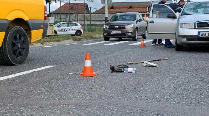 Giurgiu: Un pieton a fost grav rănit de un autoturism