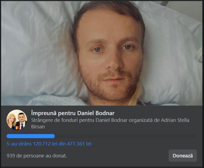 Daniel Bodnar are nevoie de sprijinul nostru